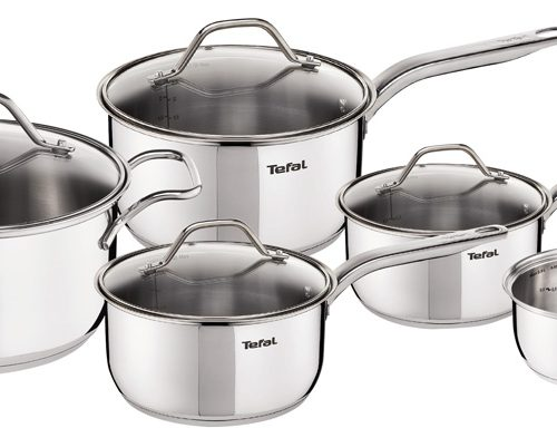 TEFAL INTUITION STAINLESS STEEL 5 PIECE PAN SET