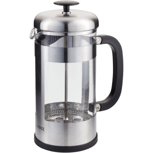 JUDGE COFFEE 8 CUP GLASS CAFETIERE 1L SILVER