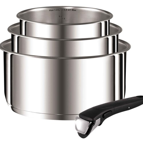 TEFAL INGENIO STAINLESS STEEL 4 PIECE PANSET