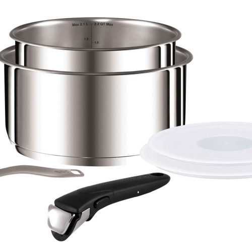 TEFAL INGENIO STAINLESS STEEL 6 PIECE PANSET