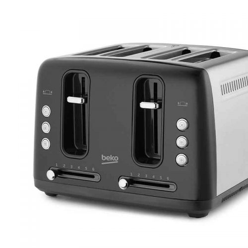 BEKO TRADITIONAL 4 SLICE TOASTER – BLACK
