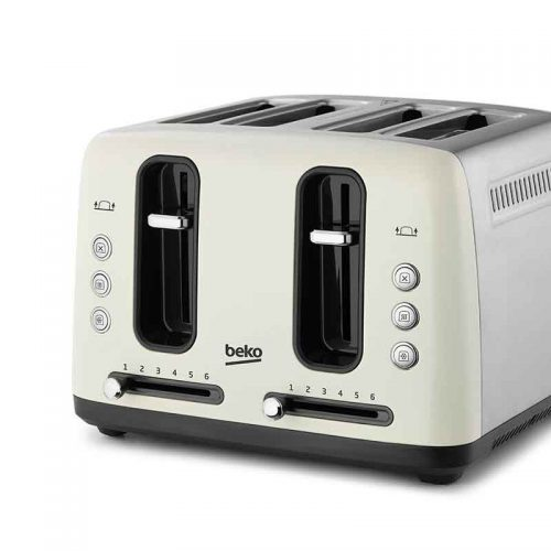 BEKO TRADITIONAL 4 SLICE TOASTER – CREAM