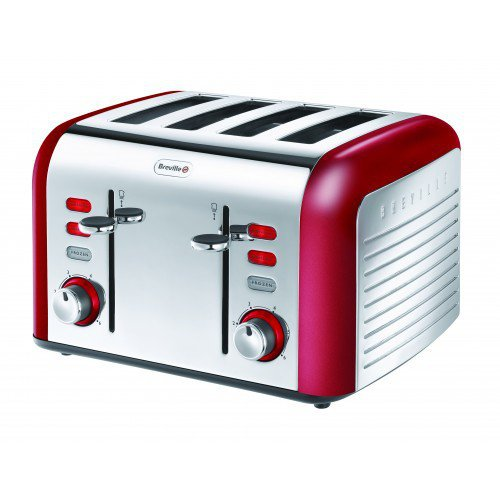 BREVILLE RED COLLECTION 4 SLICE TOASTER